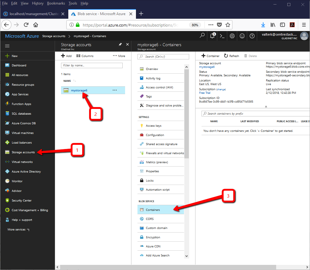 How to Create a Tenant With Azure Blob Storage – Gladinet
