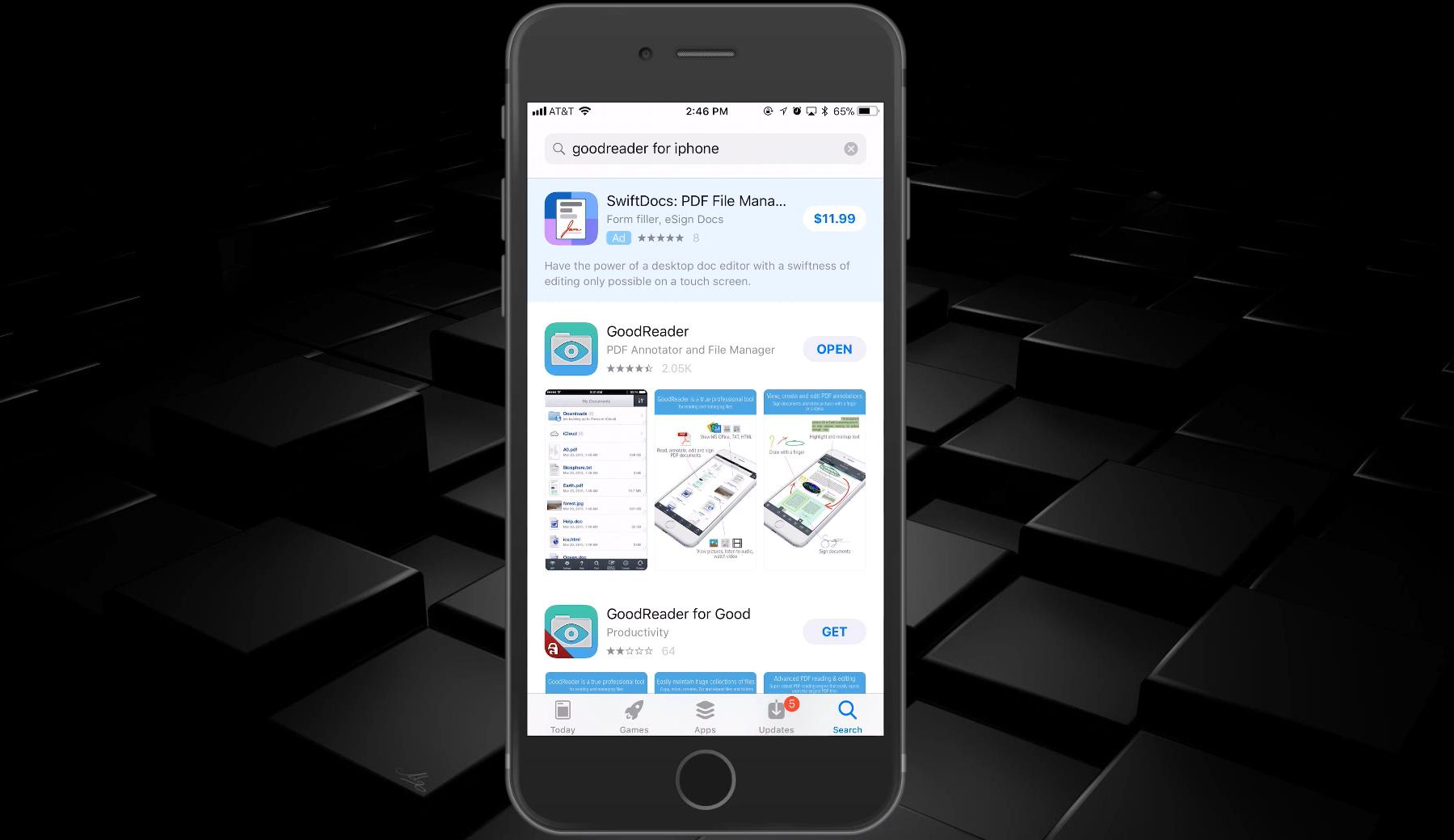 GoodReader iOS to WebDAV for PDF Editing – Gladinet