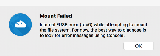 How to Fix FUSE errors on Mac OSX High Sierra and Mojave