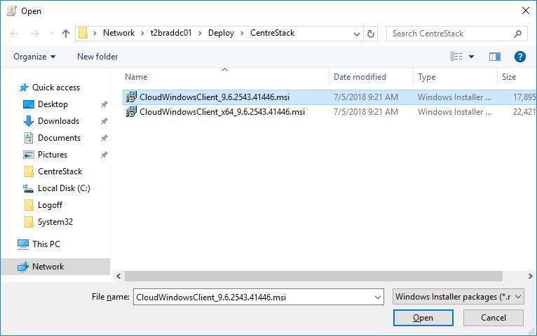 Deploy CentreStack Cloud Drive Client Via Active Directory