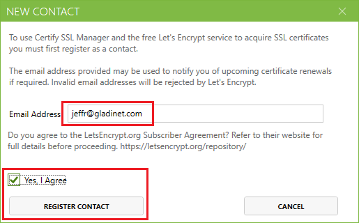 Obtaining a Server Certificate from Let's Encrypt Using