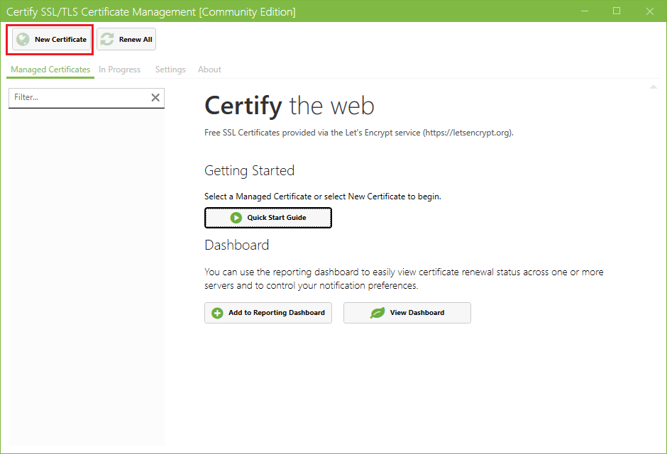 Obtaining A Server Certificate From Lets Encrypt Using Certify The