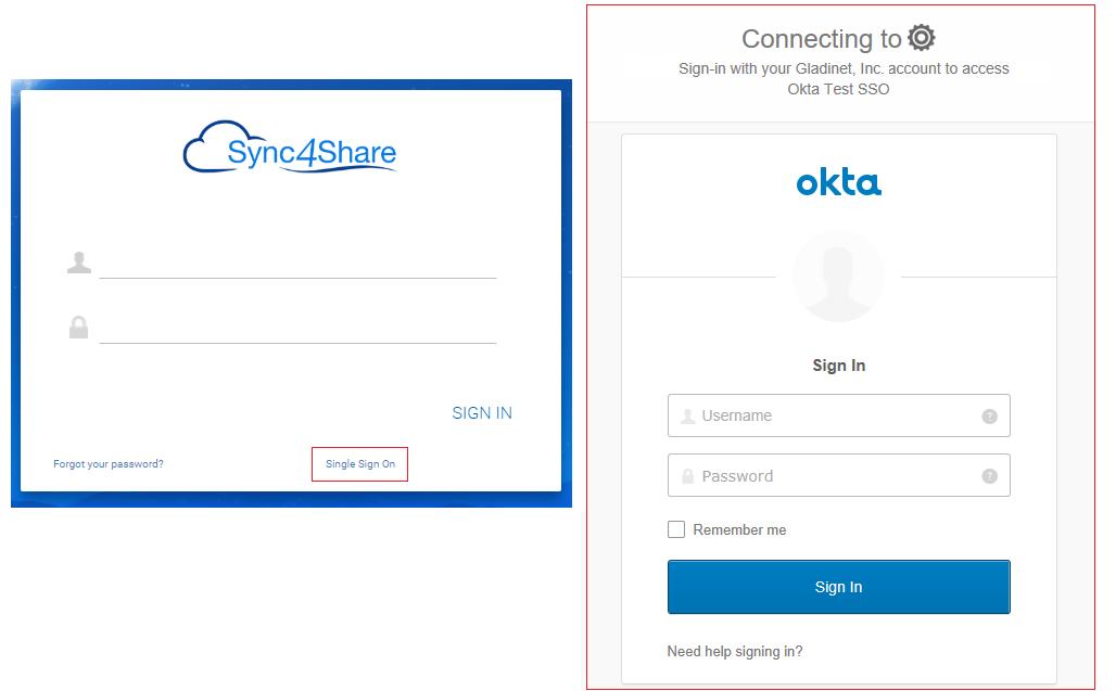 Single Sign On Integration with Okta – Gladinet
